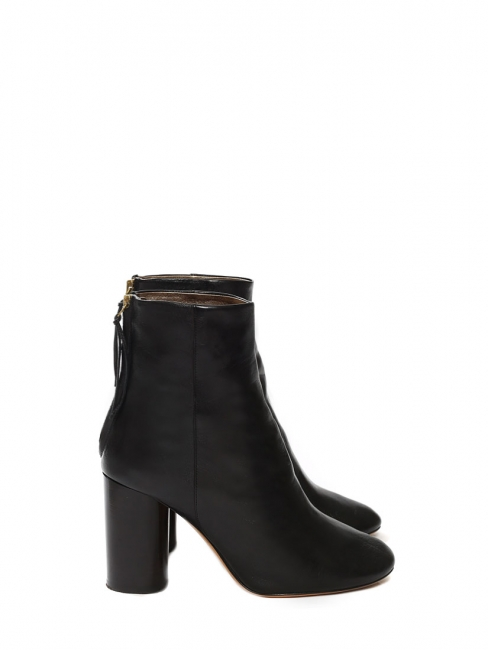 ALONA Black smooth leather ankle boots Retail price €690 Size 40