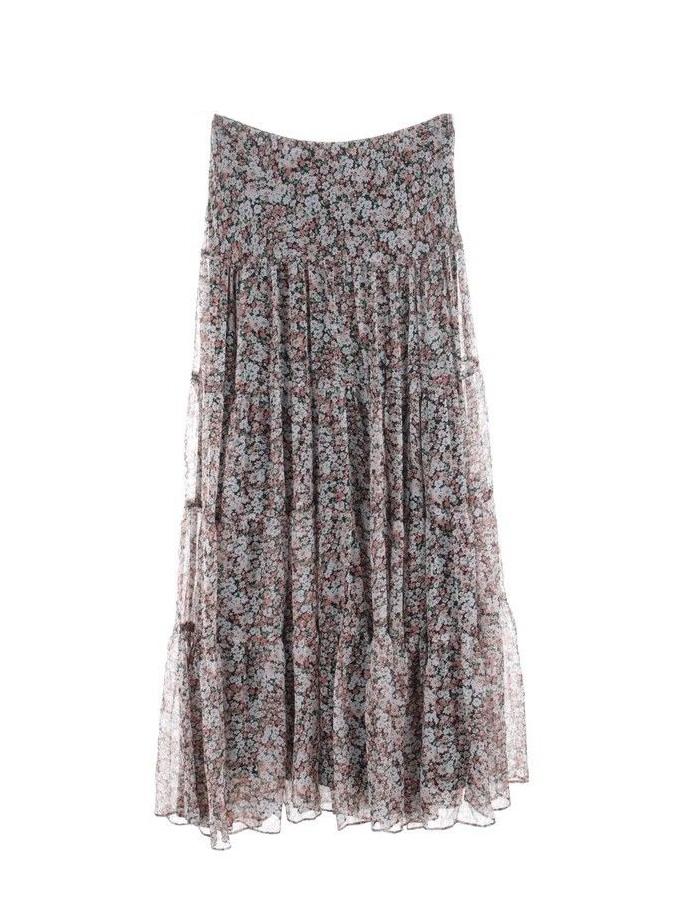74c5d1b0519 ... Jupe Moriah longue en mousseline imprimée fleurie rose bleu vert Prix  boutique 180€ Taille 34