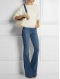 Sac medium CLARE en cuir bleu, blanc et marron Px boutique 2250€