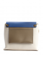 CLARE Medium Blue white and taupe leather shoulder bag Retail price €2250