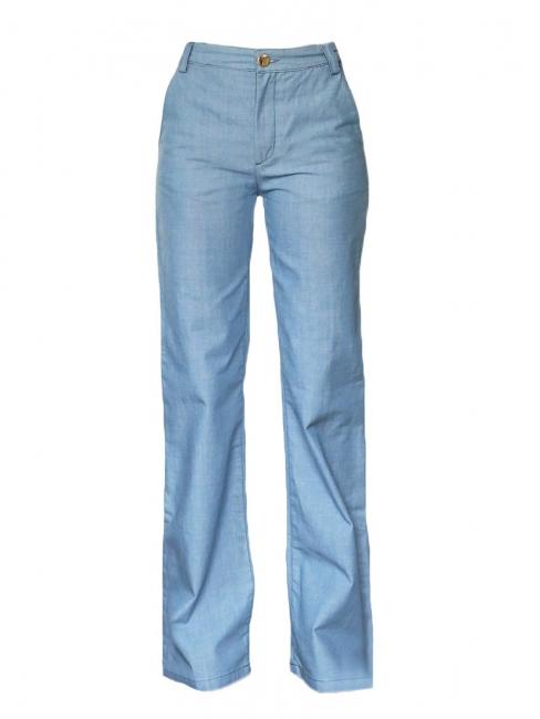 Jean flare Seventies à taille haute en coton bleu Px boutique 380€ Taille 36