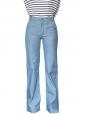 """Jean flare """"Seventies"""" à taille haute en coton bleu Px boutique 380€ Taille 36"""