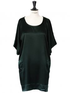 Robe kimono en soie vert sombre Px boutique environ 1000€ Taille S