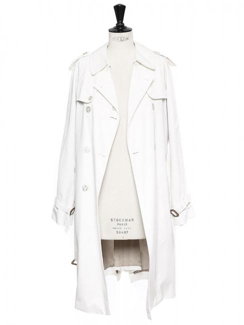Manteau trench blanc double boutonnière et ceinture Prix boutique 990€ Taille 36