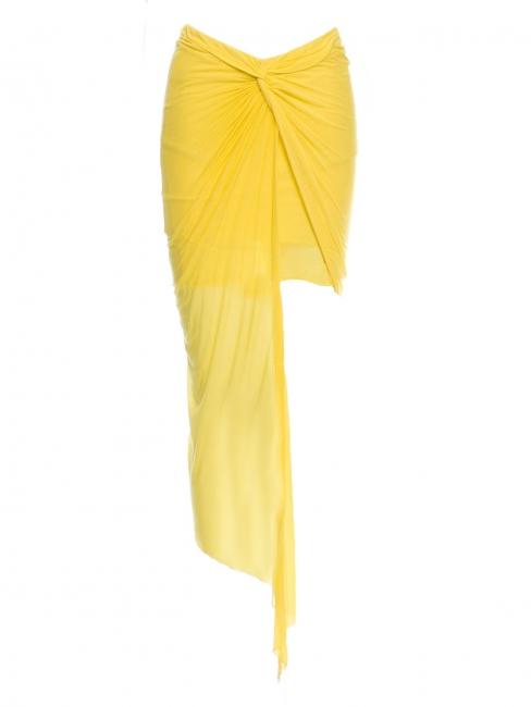 Jupe asymétrique en jersey drapé jaune vif Px boutique $265 Taille XS