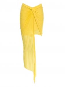 Blue tidal print asymmetrical wrap skirt Retail price $265 Size 36/38