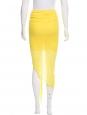 Jupe asymétrique en jersey drapé imprimé bleu et blanc Px boutique $265 Taille 38