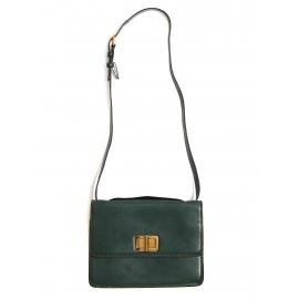 Sac LOUISE large à bandoulière en cuir vert anglais Px boutique 1600€
