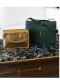 CHLOE Sac LOUISE large à bandoulière en cuir vert anglais Px boutique 1600€