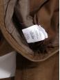 Pantalon évasé en velours ras marron Prix boutique 450€ Taille 36