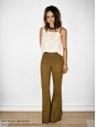 Brown velvet flared bell-bottomed trousers Retail price €450 Size 36