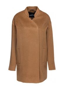 Manteau en laine vierge et mohair beige camel Prix boutique 500€ Taille 36