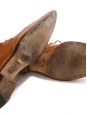 Camel brown perforated leather brogue shoes Retail price €475 Size 37