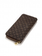 Gold and brown Monogram canvas ZIPPY wallet Retail price €545