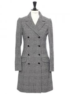 Manteau caban en laine Prince de Galles Prix boutique 590€ Taille 36