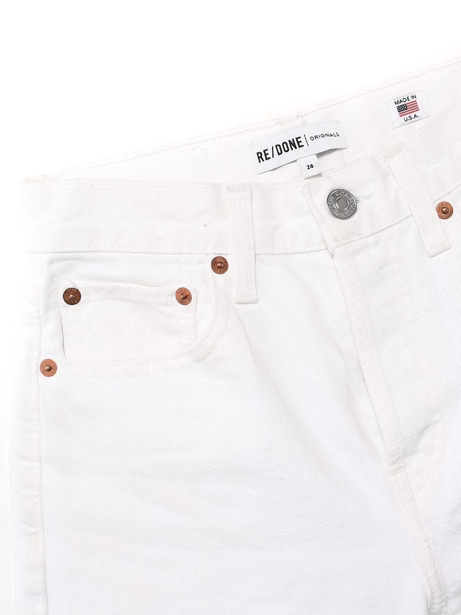 cba318e35e6c ... HIGH RISE STOVE PIPE white jeans with fray hem Retail price €205 Size  24 ...