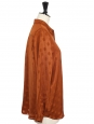 Chemise manches longues en jacquard caramel roux à pois Prix boutique 207€ Taille S