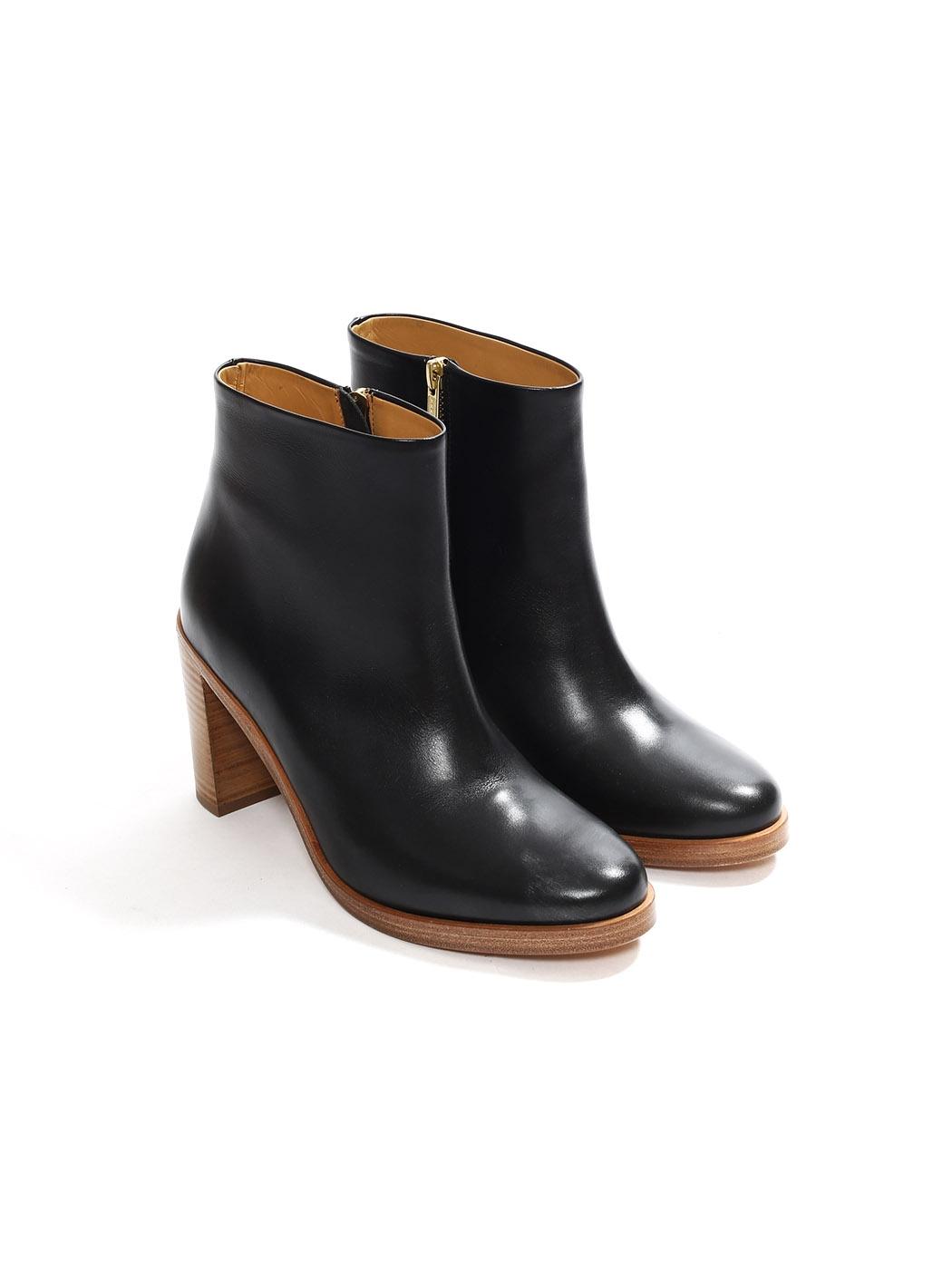 Chic Paris cuir à en APC Bottines talon noir Louise boots 2IWYEDH9