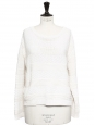 Ecru white heavy knitted wool sweater Retail price €180 Size S