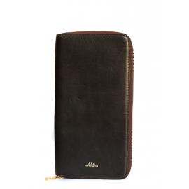 Clutch Portefeuille long en cuir marron brun Prix boutique 220€
