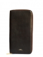 Dark brown calfskin leather long wallet / clutch bag Retail price €220