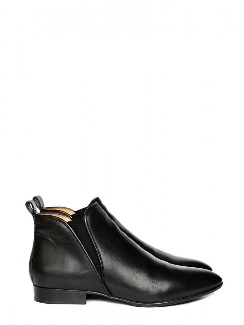 Bottines plates PIPER hauteur cheville en cuir noir Prix boutique 500€ Taille 41