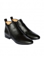 PIPER Black leather flat ankle boots Retail price €550 Size 37