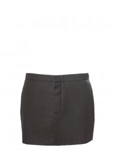 Dark khaki green wool and cotton mini skirt Retail price €500 Size 36/38