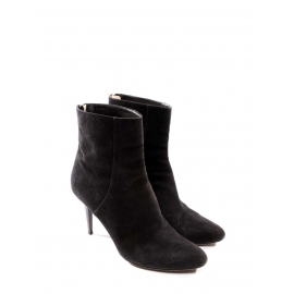 Black suede leather stiletto heel ankle boots Retail price €795 Size 38