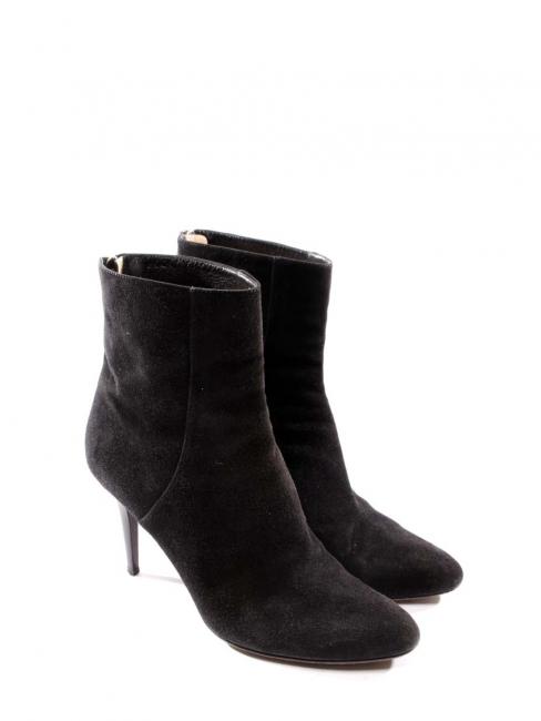 Bottines stiletto bout pointu en suede noir Px boutique 795€ Taille 38