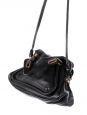 PARATY black grained leather medium shoulder bag Retail price 1450€