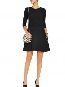 Robe manches longues en fin crêpe de laine noir Px boutique 1100€ Taille 36
