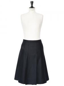 Jupe Axelle en flanelle de laine noire Px boutique 290€ NEUVE Taille 36