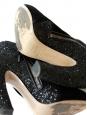 Bottines cheville glitter noir et suede Px boutique 680€ Taille 37,5