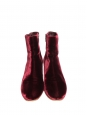 MARGAUX Burgundy red velvet ankle boots NEW Retail price €860 Size 39