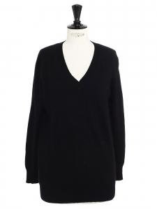 Pull col v en cachemire de luxe noir Prix boutique 450€ Taille 36/38