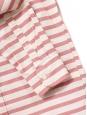 Chemise manches longues en coton rayé écru et rouge rosé Taille 38
