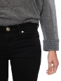 Pantalon SHINE skinny mid-rise en denim noir Prix boutique 180€ Taille 34