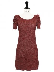Robe FARIDOLE en lin et lurex rouge Prix boutique 200€ Taille 36