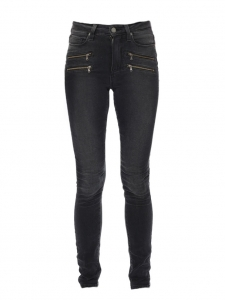 Jean à zips EDGEMONT taille haute gris foncé Px boutique 235€ Taille XS