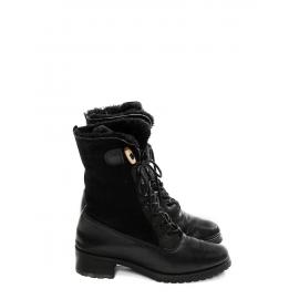 Bottines Ranger en cuir et mouton retourné noir Px boutique 550€ Taille 39
