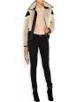 Manteau veste réversible en fourrure et peau de mouton écru et noir Px boutique 2850€ Taille 38
