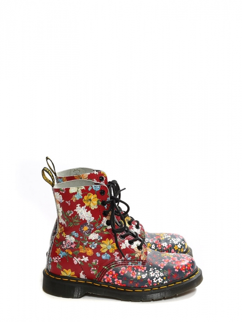 Floral Pascal multi floral laced up docs boots Retail price €180 Size 39