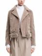 MERLYN Beige mock felted shearling jacket NEW Retail price €1900 Size M
