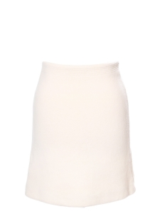 Ivory white angora and virgin wool pencil skirt Retail price €650 Size 36/38