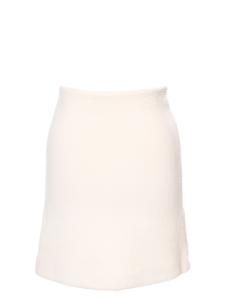 Ivory white angora and virgin wool pencil skirt Retail price €650 Size 36/38