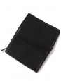 Black canvas and leather square wallet NEW Retail price €550