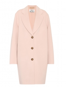 LANDI light pink wool and cashmere buttoned maxi coat NEW Retail price €950 Size 36