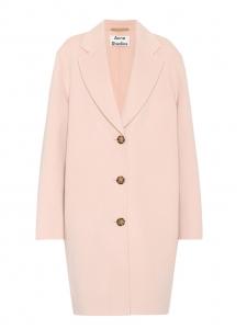 Manteau LANDI en laine et cachemire rose clair NEUF Prix boutique 950€ Taille 36
