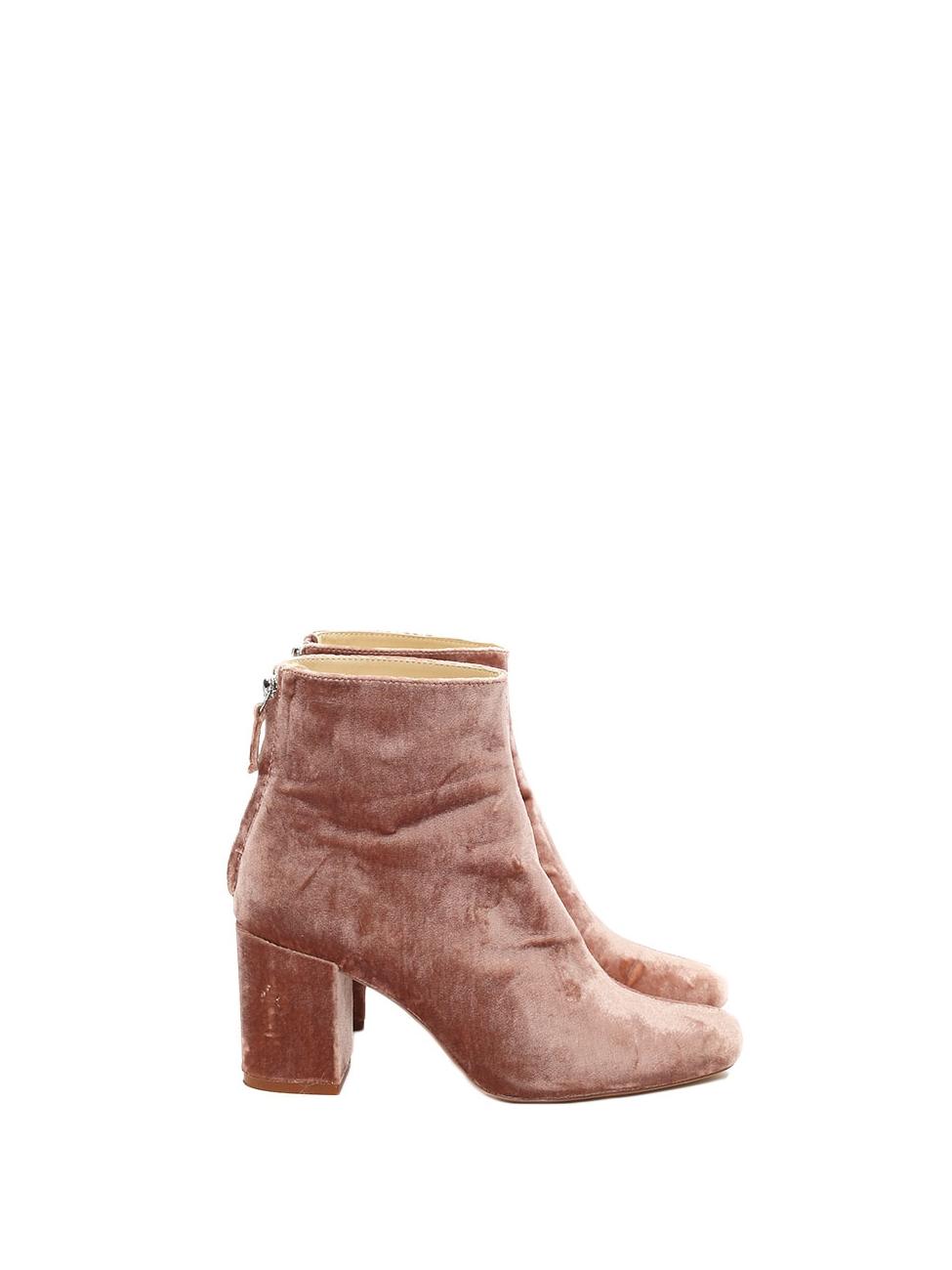 Zara High Heel Velvet Ankle Boots,Size 37,38